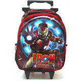 Mochila Homem De Ferro Iron Man Rodinhas Tam G Vingadores