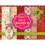 6 Fondos Papel Digital Navidad Diseño Tarjetas Felicidades