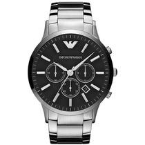 Relógio Emporio Armani Ar2460 Prata Preto Na Caixa E Manual.