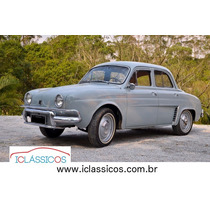 Renault Dauphine 1961 Placa Preta N Gordini