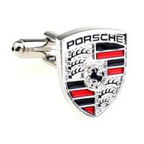 Mancuernillas Porsche Logo Automovil Plateadas Camisa Traje