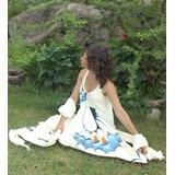 Vestido Ropa Artesanal Pintado A Mano Hippie Chi