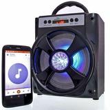Caixa Som Portátil Amplificada Usb Mp3 Fm Sd Bluetooth