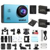 Wimius 4k Fhd Deportivo Acción Cámara 1080p 16mp Wifi Cam
