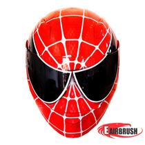 Capacete Moto Personalizado Pintura Spider Man