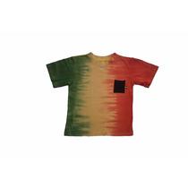 Camiseta Reggae Infantil Com Bolso Quadrado Preto