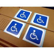 Set De 4 Stickers Discapacidad / Discapacitado / Automovil