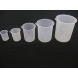 Vaso De Precipitado Plástico De 50 Ml Para Laboratorio