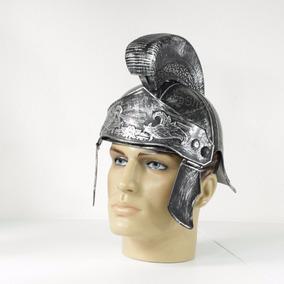Capacete Gladiador Prata Luxo / Capacete Romano Prateado