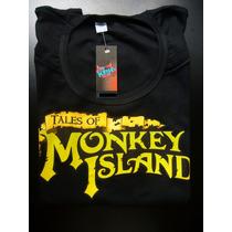 Remeras Monkey Island Estampado Transfer Lucas Arts Sega Vg