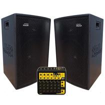 Caixas Acústicas Ativa+ Passiva 1400w 1x15 Fal Jbl Mesa 10ch