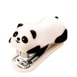 Panda Linda Mini Escritorio Grapadora Y Grapar Mano Oficina