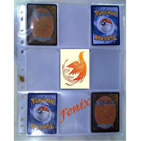 30 Folhas 9 Bolsos P/ Pasta Fichário Pokemon + Cards Brinde