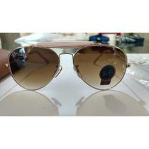 Óculos Ray Ban Caçador Original Rb3026 5814 Detalhe Rosa