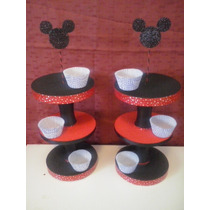 Porta Cup Cake 3 Pisos Entran De 12 A 20 U Minnie Mini Mouse