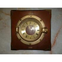 Reloj Marino Ojo De Buey ( En Bronce) De Pared