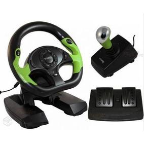 Volante Com Marcha Pedal Para Jogos Corrida Em Xbox360 E Pc