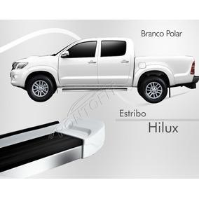 Estribo - Toyota Hilux Dupla 2012 2013 2014 - Branco Polar