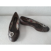 Zapatos Azaleia Talle 41 Chatitos Color Marron Forro Floread
