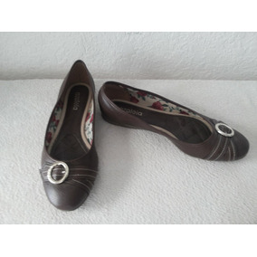 Zapatos Azaleia Talle 41 Chatitos Color Marron Forro Floread