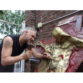 Escultura De Bronce Leonel Tucididi Artista Altura 170cm