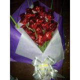Ramos 15 Rosas Chocolate Aniversarios-15 Años-de La Madre