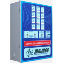 Central Alarme Incêndio 12 Setores + Bateria Sirene Botoeira