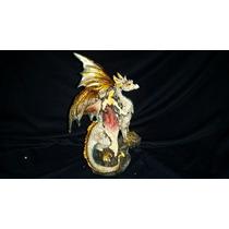 Figura Hada Y Dragon Poliresina