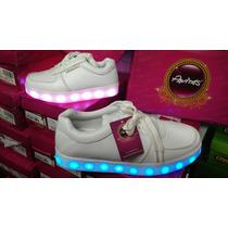 Zapatos Pavitas Luces Blancos.27 Al 33