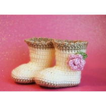 Botitas Escarpines Tejida A Crochet De 0 A 1año