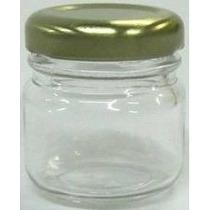 50 Potinhos De Vidro 40 Ml Com Tampa- Para Lembrancinha