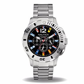 Reloj Nautica A21531g Hombre Crono, Fechador Wr 100m + Envió