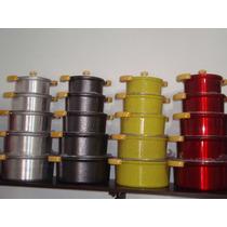 Jogo Panela 5 Unidade Aluminio Fundido Grosso 10mm Coloridas