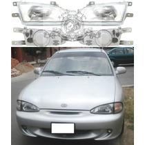 Farol Hyundai Accent 94/97- 4 Portas Novo O Par