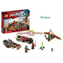 Bloques Ninja Bike Chase Ninjago Lego 70600