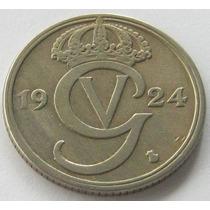 Suecia 50 Ore 1924 W Escasa Alto Valor De Catalogo Vf