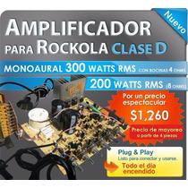 Amplificador Para Rockola Clase D De 300 Watts Envío Gratis