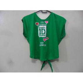 Blusa Camisa One Direction Artistas Online Talla: S M Verde