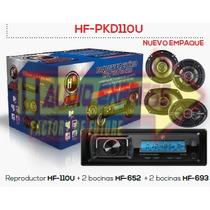 Paquete De Estereo 2 Bocinas 6.5 Y 2 Bocinas 6x9 Hfpkd110u