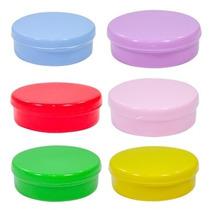 50 Latinhas Mint To Be Plástico 5 Cm - Lembrancinhas Festa