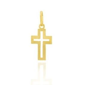 Pingente De Ouro 18k Cruz , Crucifixo Masculino / Feminino