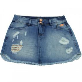 Saia Jeans Feminina Ana Hickmann Mini Mid Ah116