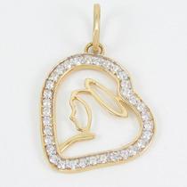 Esfinge Jóias- Pingente Nossa Senhora Zircônias Ouro 18k 750