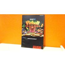 Manual Original- Pinball - Fantasies- Snes