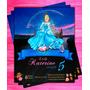 Invitación De Cumpleaño Princesa Disney Cenicienta Photosho