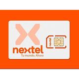 Chip Prepago Nextel Activo Plan Listo Para Usar Con Linea