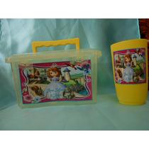 Loncheras Personalizadas +vaso Paquete Fiestas Cumpleaños