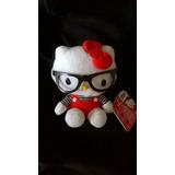 Muñeco Peluche Hello Kitty Original Con Anteojos Coleccion