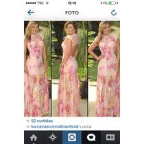 Vestido De Renda Marca Lucca Vasconcelos M Vest Ate 42.novo