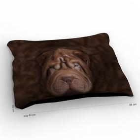 Colchão Para Pet Cachorro Sharpei Chocolate 85x60cm